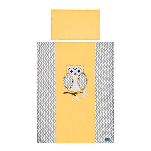 Bebybettwäsche gelbe Eule 100x135 von Belisima online kaufen Österreich
