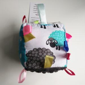 Sensorischer Spielwürfel Baby Stoff 100% Baumwolle Eu Produkt