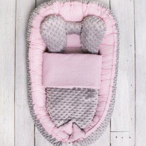 Babynest Rosa Minky Grau für Mädchen von Belisima Baby online in österreich kaufen