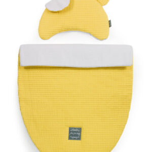 Kinderwagen Set Kissen und Decke Waffelstoff Gelb online kaufen