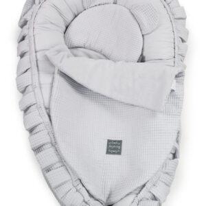 Babybett Set auch für Babynest Farbe Grau