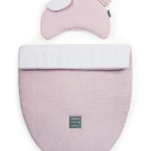 Babybett Set oder Kinderwagen Kissen und Decke aus Waffelbaumwolle Farbe Rosa für Mädchen online kaufen