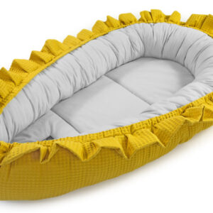 Baby Nest gelb mit grau Waffel Floo in Österreich Online kaufen
