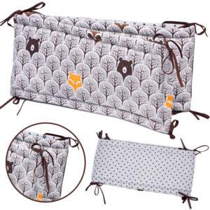 Bettumrandung Babybett Farbe Grau Grauer Wald von Palulli im Babyset zu kaufen