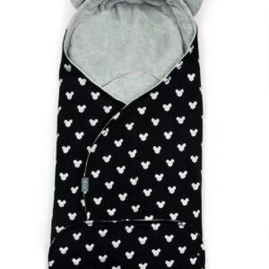 Baby Wickelschlafsack aus Baumwolle Micky grau von Floo for baby für den Autositz