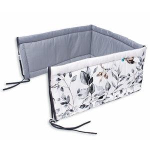 Gitterbettschutz Bettumrandung graue wiese
