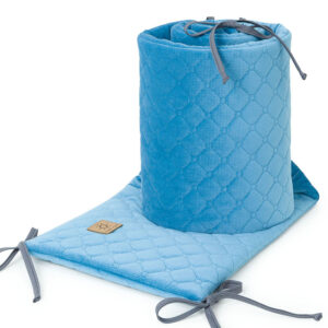 Bettumrandung 180x30 fürs Gitterbett Baby Nestchen in Blau online kaufen Österreich