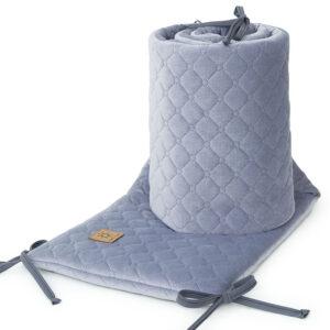 Bettumrandung 180x30 fürs Gitterbett Baby Nestchen in Grau online kaufen Österreich
