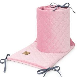 Bettumrandung 180x30 fürs Gitterbett Baby Nestchen in Rosa