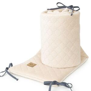 Bettumrandung 180x30 fürs Gitterbett Baby Nestchen in Ecru Sand Beige online kaufen Österreich