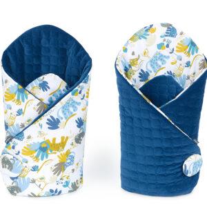 Babyhörnchen Steckkissen Einschlagdecke für Zuhause Velvet Blau Savanne Muster online kaufen