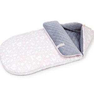 Schlafsack für Kinderwagen oder Buggy Größe S 90cm Rosa mit Velvet Grau online günstig kaufen in Österreich