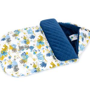 Kinderwagen Schlafsack Größe 90cm aus gesteppten Velvet Farbe Blau für Buben online kaufen Österreich