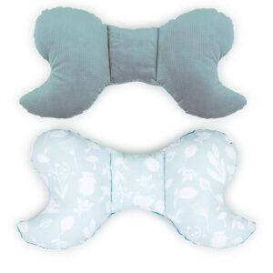 Schmetterling Kissen fürs Babynest, Autositz, Kinderwagen aus Velvet und Baumwolle Farbe Khaki