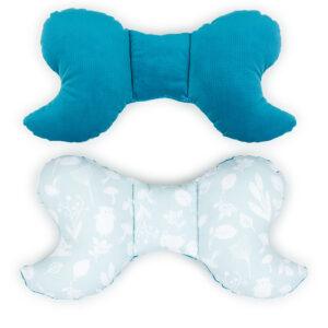 Baby Schmetterling Kissen fürs Auto Kindersitz oder Babynest Velvet und Baumwolle Farbe Türkise