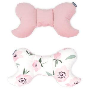 Schmetterling Kissen Rosa Velvet für Babynest Autoreise oder Kinderwagen Schlafsack Österreich