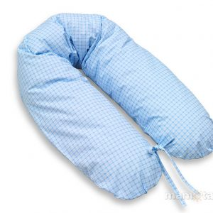 Schwangerschaftskissen Blau kariert 170cm Baumwolle Bezug abnehmbar online kaufen in Österreich