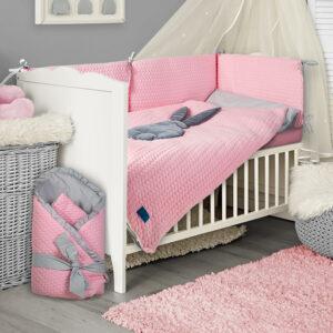 Baby Bettwäsche 100x135 und 90x120 Hase Sweter Farbe Rosa online kaufen in Österreich und Deutschland