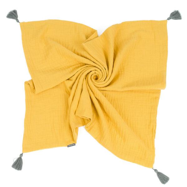 Babydecke Gelb Musselin zart und kuschelig online kaufen