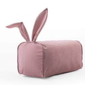 Hase Sitzsack für Kinder Farbe Rosa 70x30x30 aus Samt online bestellen