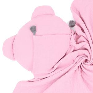 Sommer Babydecke für Kinderwagen und Babybett Rosa Musselin online bestellen
