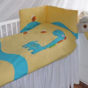 Baby Bettwäsche 100x135 mit Strickerei Giraffe Muster für Mädchen oder Jungen