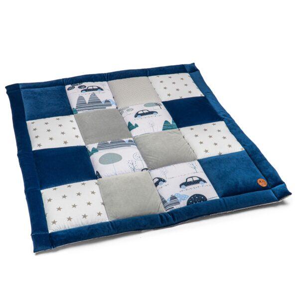 Spielmatte 120x120 Velvet blau